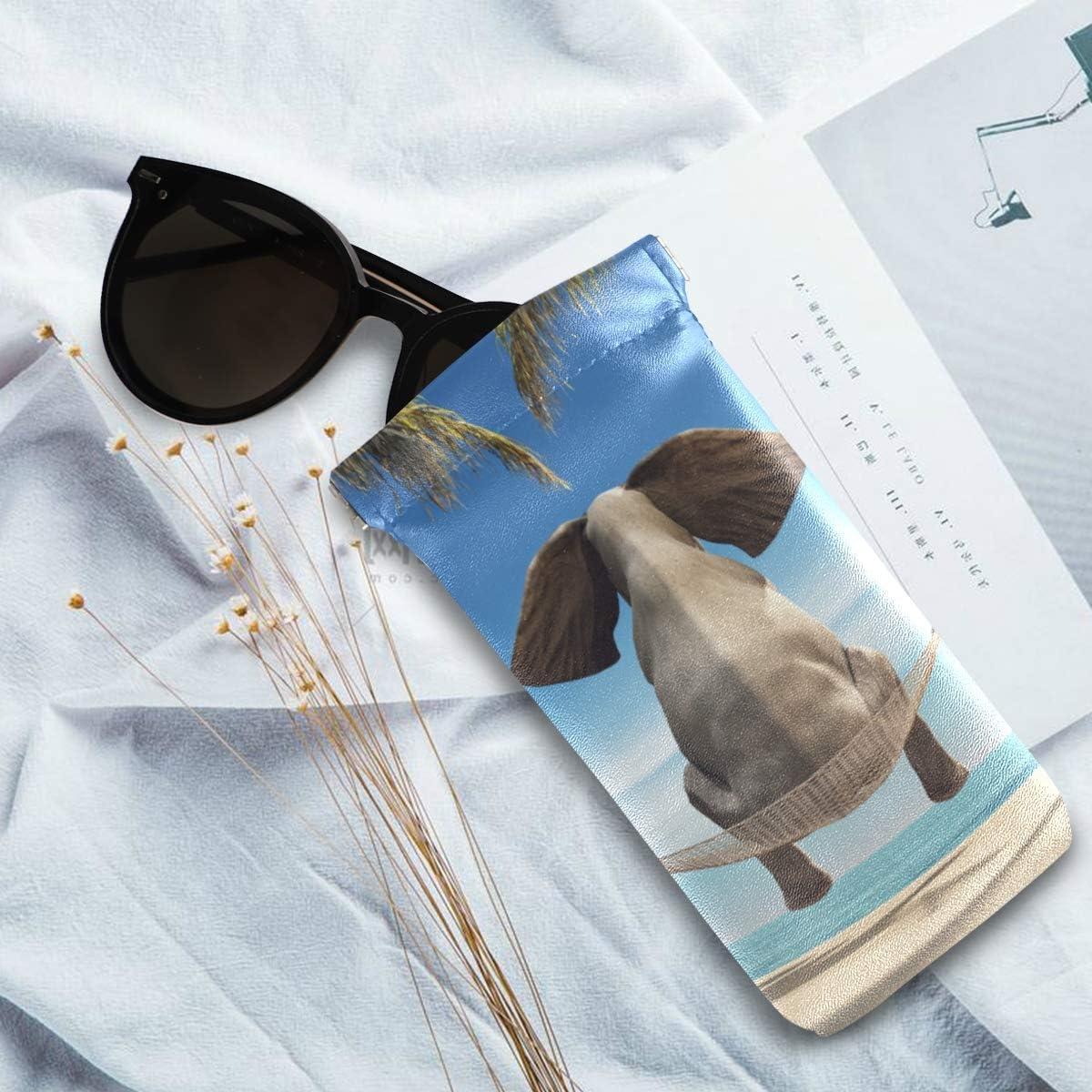 XiangHeFu Brillenetui Brillenetui Brillenetui Elefant sitzend Strand tragbar mehrfach vorhanden