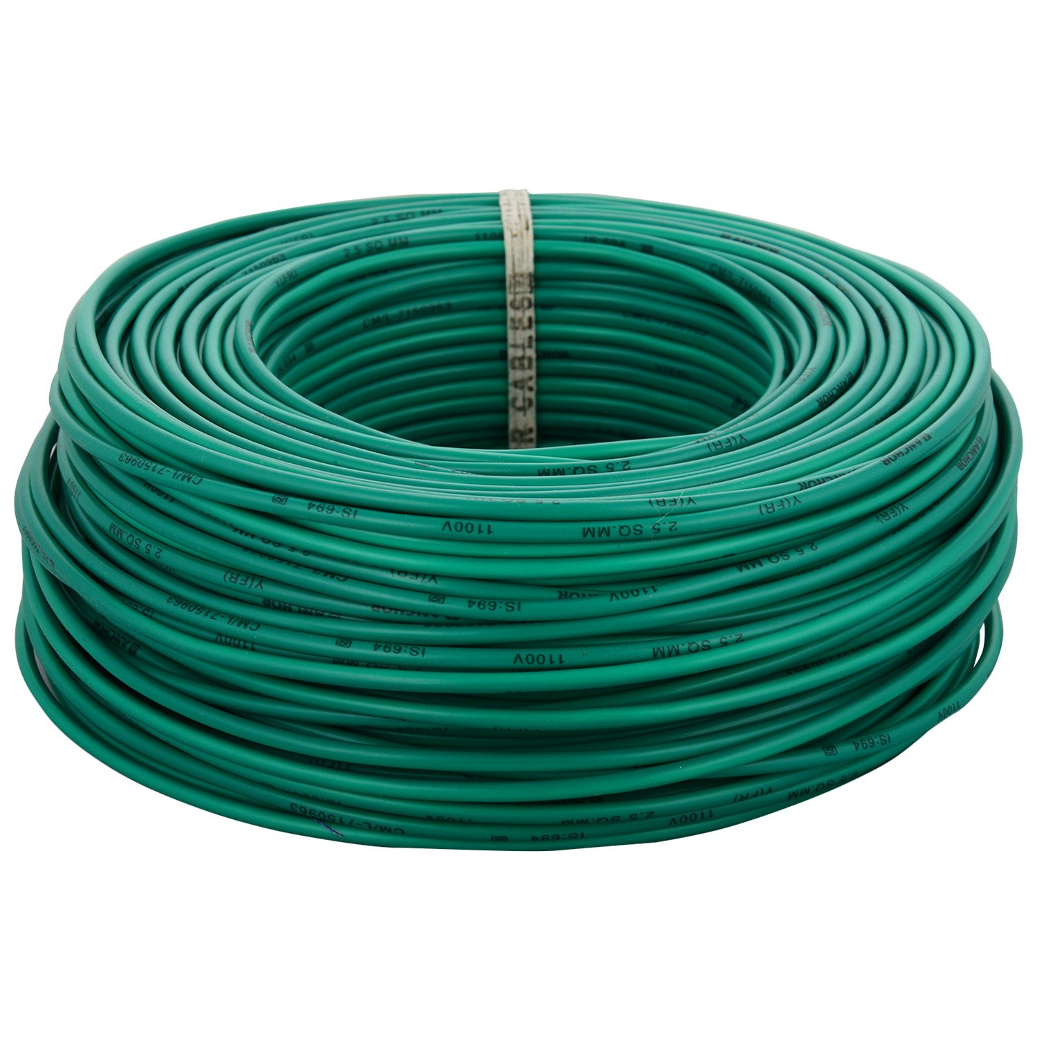 Anchor Insulated Copper PVC Cable 2.5 Sq mm Wire (Green): Amazon.in ...