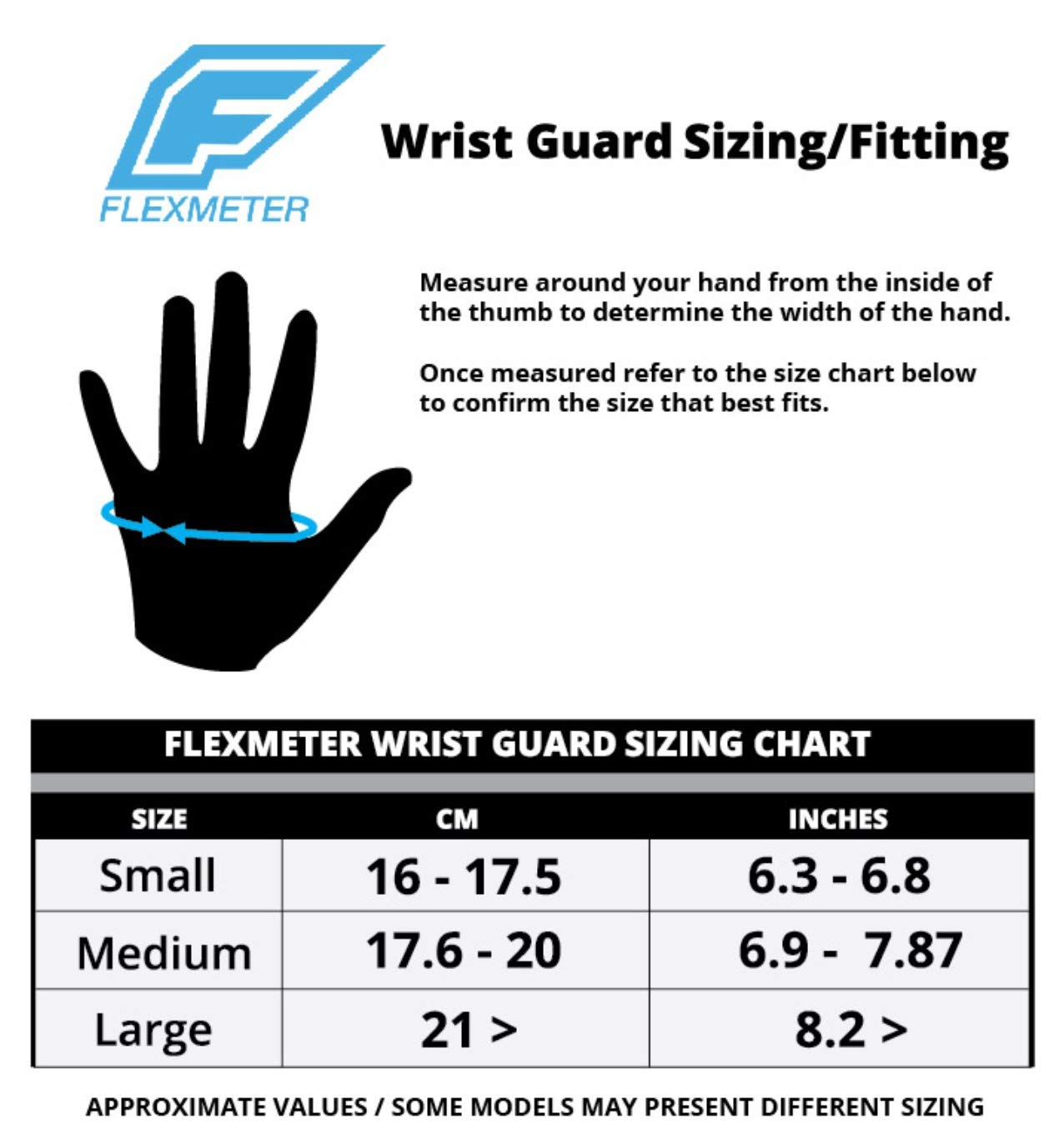 Flexmeter Protections Poignets Flexguard D3O Multisports Double attelle Taille M