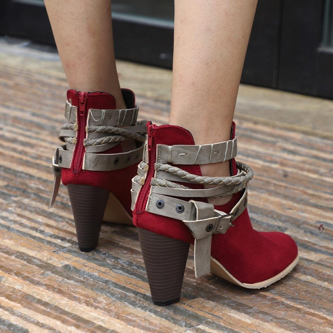 64c7ec561d2c3 Baigoods Summer Sandals Transparent Gladiator Peep Toe Shoes Heels Women  Ankle Boots