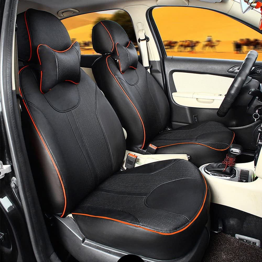 full set Leatherette black Car seat covers fit Skoda Rapid