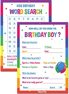 Kids Birthday Party Games For Boy 30 Pack