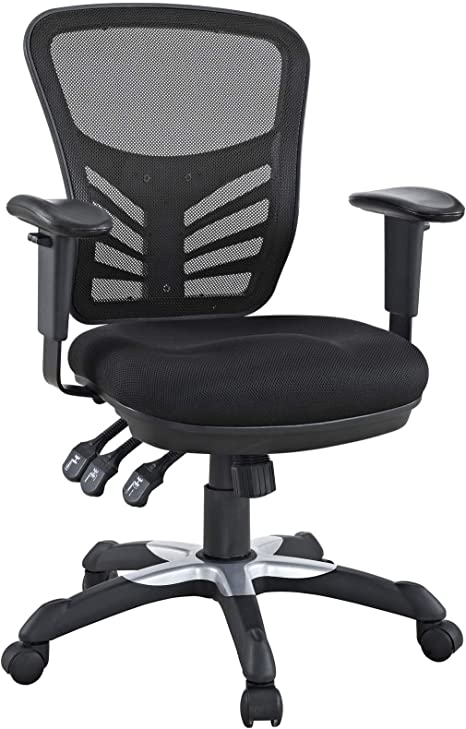 Amazon Com Modway Eei 757 Blk Articulate Ergonomic Mesh Office Chair In Black Furniture Decor