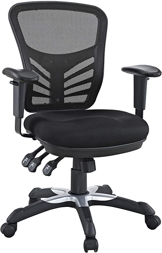 Amazon Com Modway Articulate Ergonomic Mesh Office Chair In Black Furniture Decor