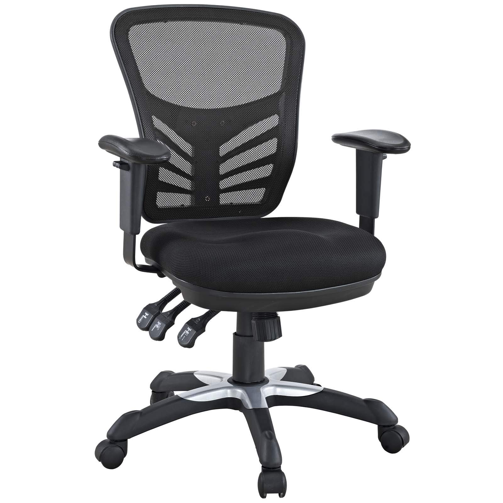 Modway Articulate Ergonomic Mesh Office Chair in Black by Modway