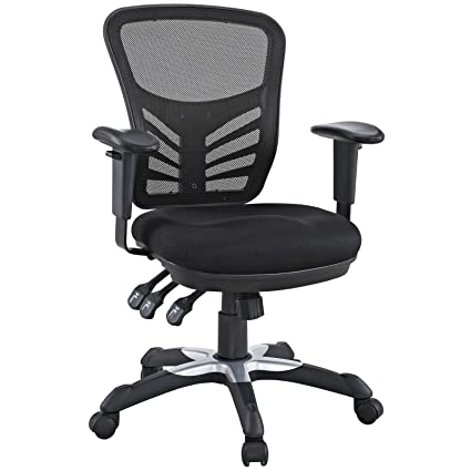 a00cff671b0 Amazon.com  Modway Articulate Ergonomic Mesh Office Chair in Black  Kitchen    Dining