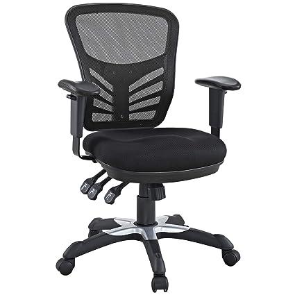 d597d622d48 Amazon.com  Modway Articulate Ergonomic Mesh Office Chair in Black  Kitchen    Dining