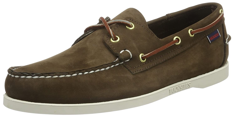 DOCKSIDES Mens Boat Shoes, Grey (SMOKE/WAXY leather), 8.5 UK(43 EU) Sebago