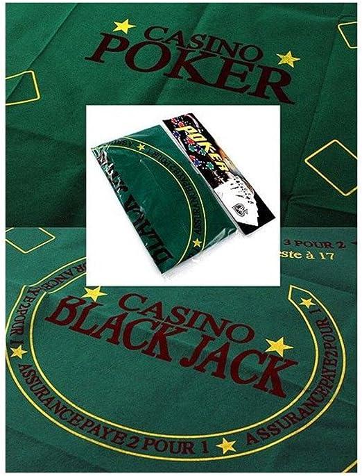 Official Tapete Juegos de Mesa, Casino Poker Black Jack: Amazon.es: Juguetes y juegos