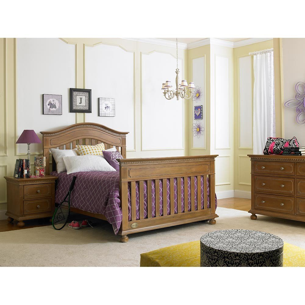 Full Size Conversion Kit Bed Rails for Dolce Babi Naples Crib - Walnut Brown by CC KITS (Image #2)