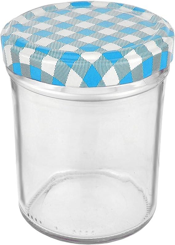 Conservas Juego de 12/tarros 230/ml de color de la tapa Frutas to 66/Incluye Diamante gelier m/ágica Recetas mermelada, Cristal Conservas