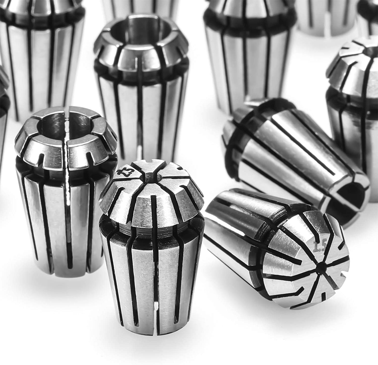 Details about  /2Pcs High Accuracy Spring Steel CNC Collet Accessories