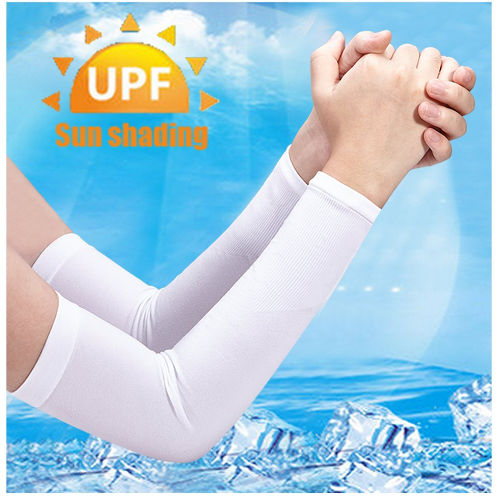 MZIM Unisex Sports Arm Sleeves Sun Block UV Protection Hands Arm Cover for Outdoor Sports MZIM-01