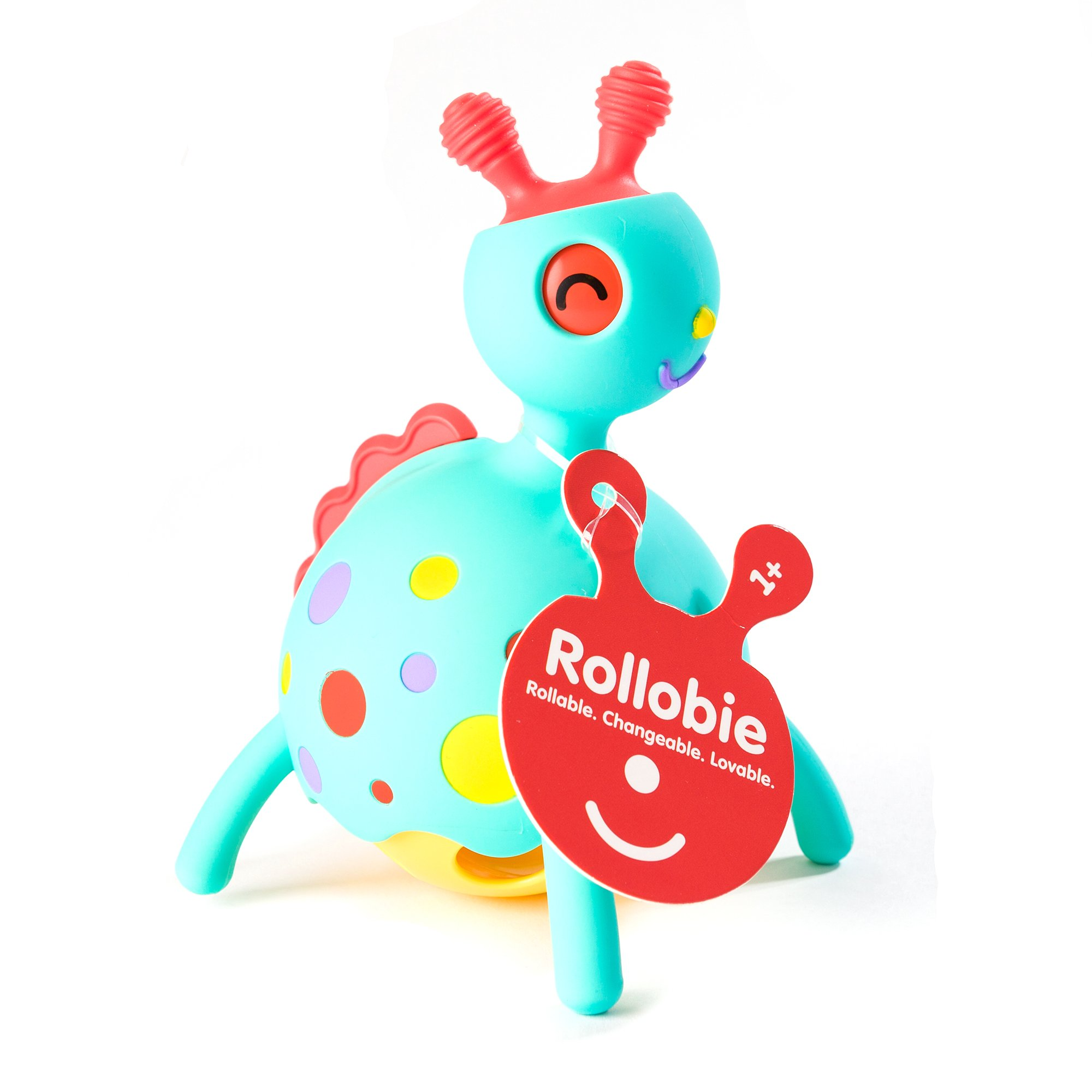 Fat Brain Toys Rollobie Baby Toy, Blue