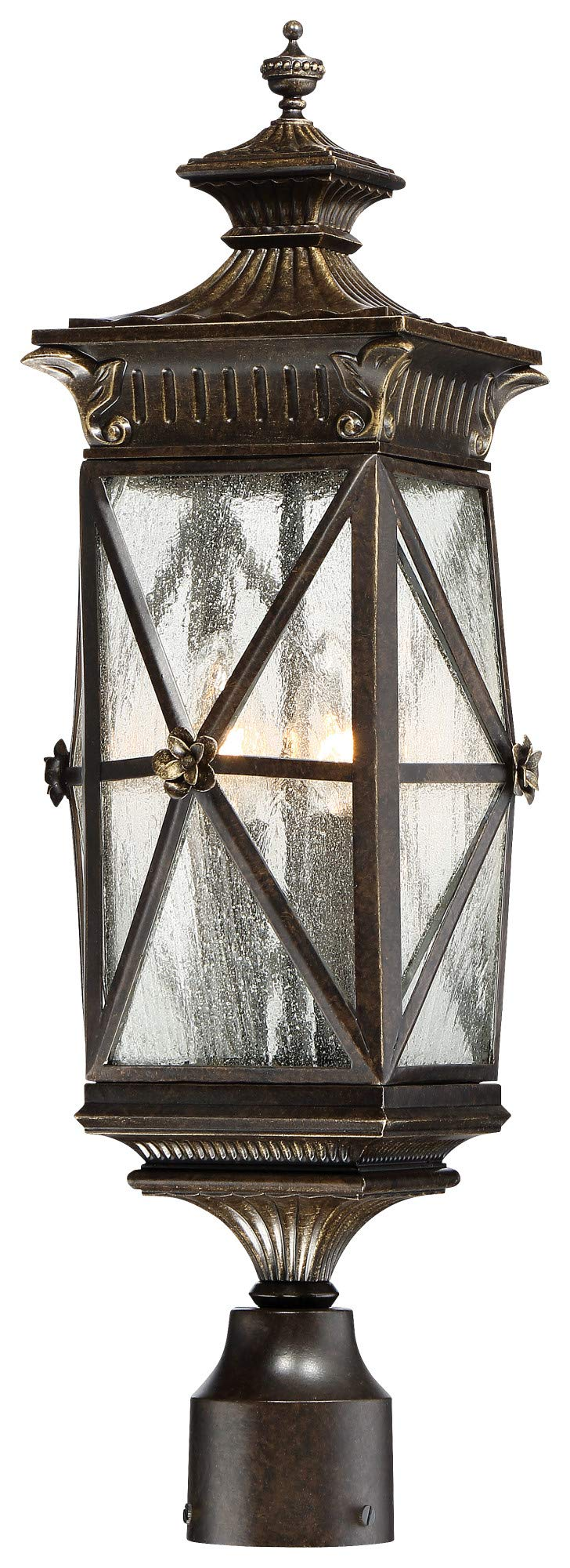 Minka Lavery Minka, 8.75 inches 9316-586 Transitional Four Rue Vieille Collection in Bronze/Darkfinish, 8.75 inchesFour Light Post Mount