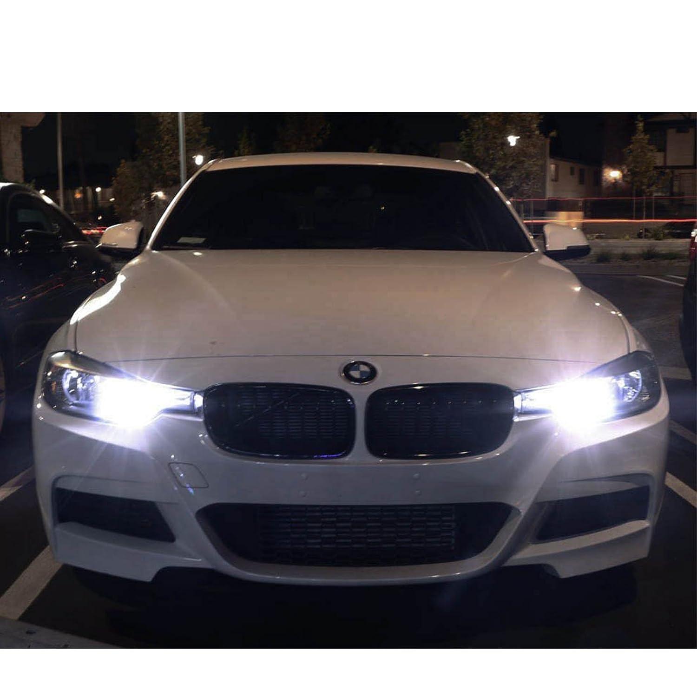 Xotic Tech New H15 Ice Blue 106 SMD lens LED Bulbs For Audi BMW Mercedes VW For Daytime Running Light