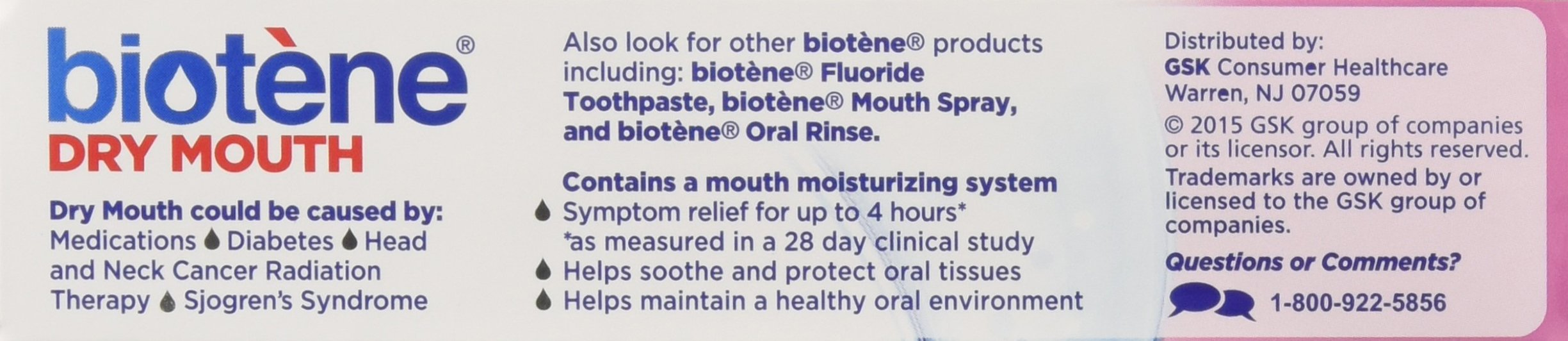 Biotene OralBalance Moisturizing Gel Flavor-Free, Alcohol-Free, for Dry Mouth, 1.5 ounce (Pack of 3) by Biotène (Image #4)