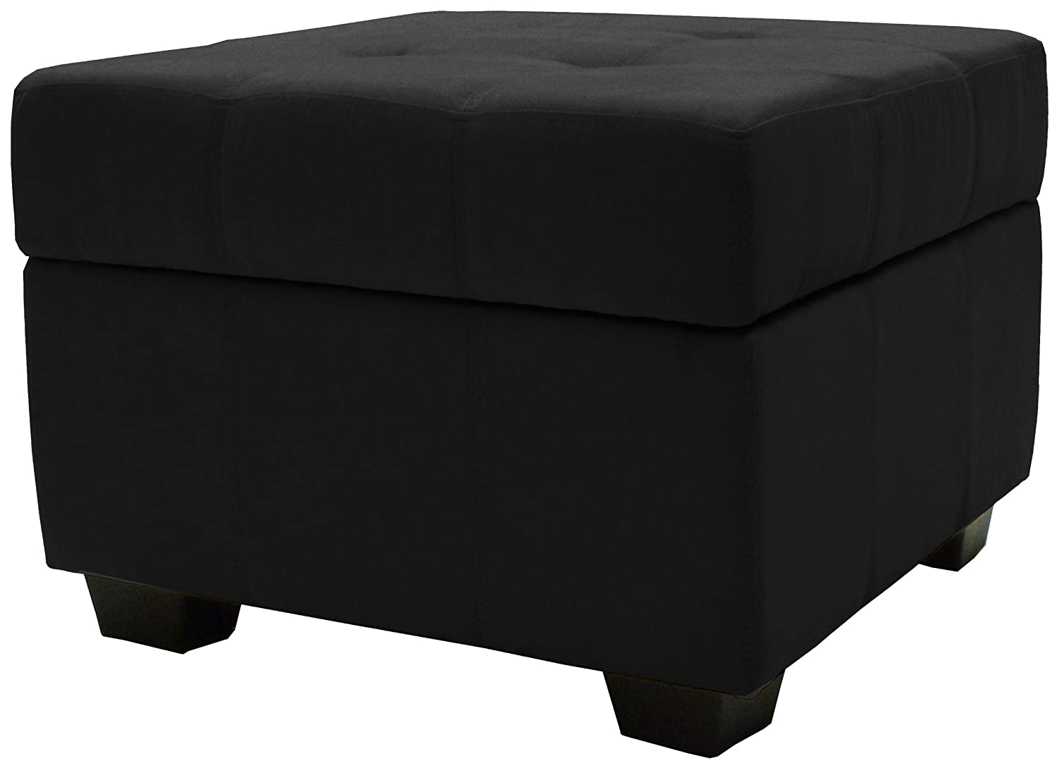 Amazon.com: Epic Furnishings Vanderbilt 24-Inch Square Tufted Padded Hinged Storage  Ottoman Bench, Leather Look Navy: Kitchen & Dining - Amazon.com: Epic Furnishings Vanderbilt 24-Inch Square Tufted