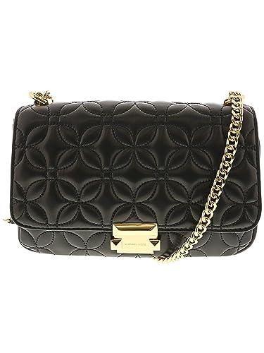 16eda88a078753 Michael Kors Sloan Quilted Floral Chain Shoulder Bag BLACK: Handbags:  Amazon.com