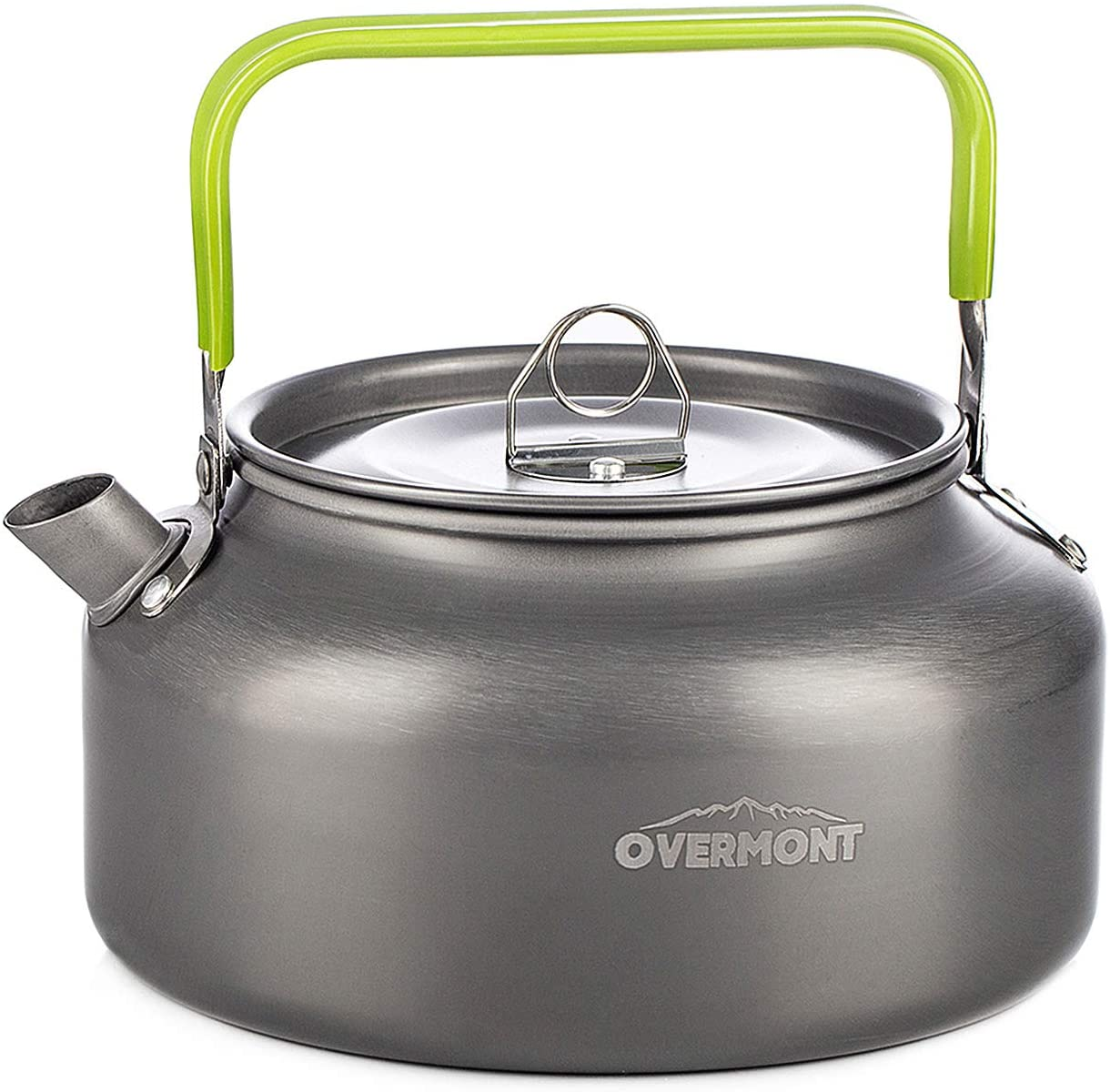 Overmont Camping Aluminum Tea Coffee Kettle