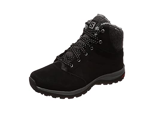 Salomon Ellipse Freeze CS WP, Zapatillas de Senderismo para Mujer, Negro Black/Phantom