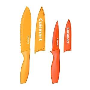 Cuisinart C55CNS-4PUT Advantage Color Collection 4-Piece Non-Stick Cutlery Set, Multicolor