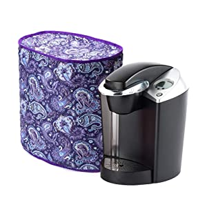 Cotton Quilted Coffee Maker Cover, Small Smart Kitchen Appliance Dust Cover, Anti Fingerprint Covers Kitchen Machine Protectors, Machine Washable CYFC324