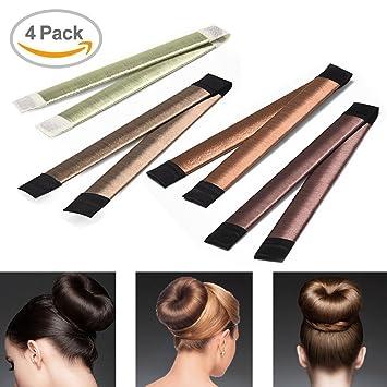 DIY 4Pcs Hair Knot Rings Donut Hair Bun Maker Braid Holder Tool ...