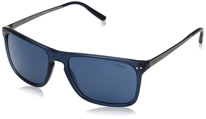 Ralph Lauren Polo 0PH4119, Gafas de Sol para Hombre, Vintage Transparent Blue, 56