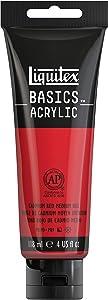 Liquitex 1046151 BASICS Acrylic Paint, 4-oz tube, Cadmium Red Medium Hue