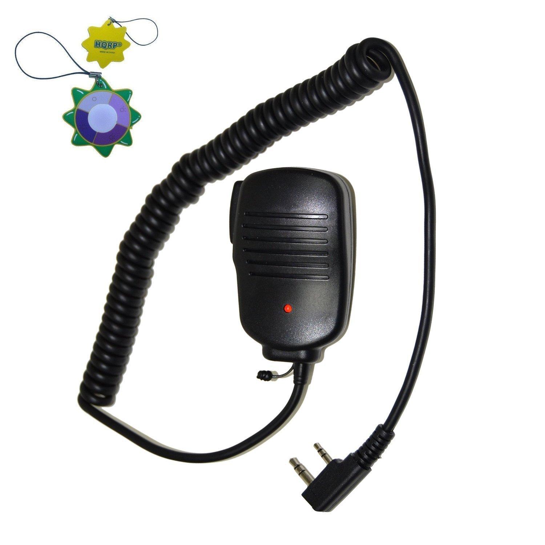 HQRP 2 Pin Mini Speaker PTT Microphone for Kenwood TK-3360, TK-3400, TK-3402, TK-5220 + HQRP UV Meter 8.84668E+14