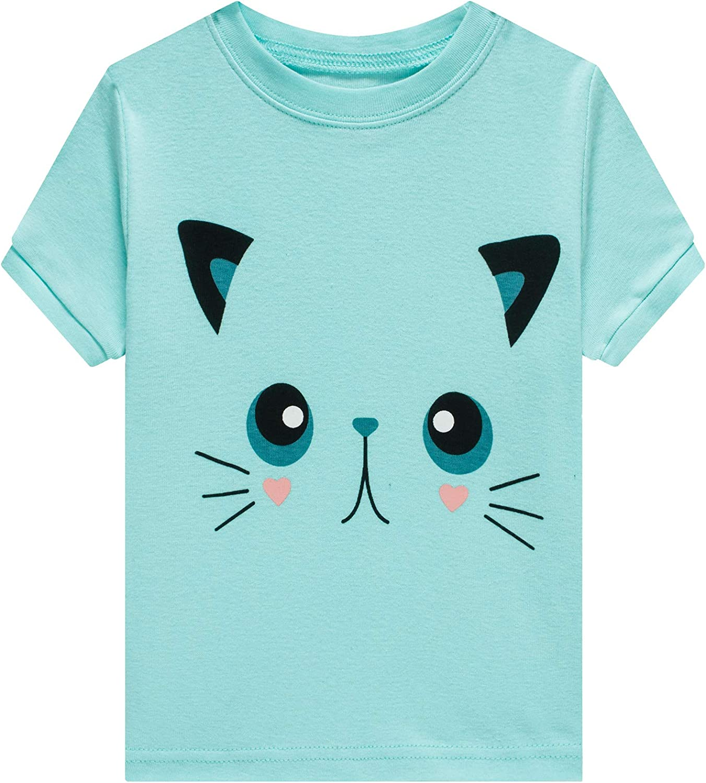 Girls 100/% Cotton Pajamas Mermaid Pjs Childrens Clothes Set Kids Sleepwear