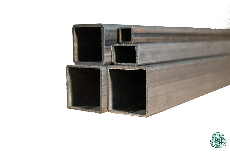 Quadratrohr Stahlrohr Hohlprofil /Ø 60x40x2 Vierkantrohr L/änge 2 Meter Rechteckrohr Konstruktionsrohr Stahl 2m = 200cm = 2000mm