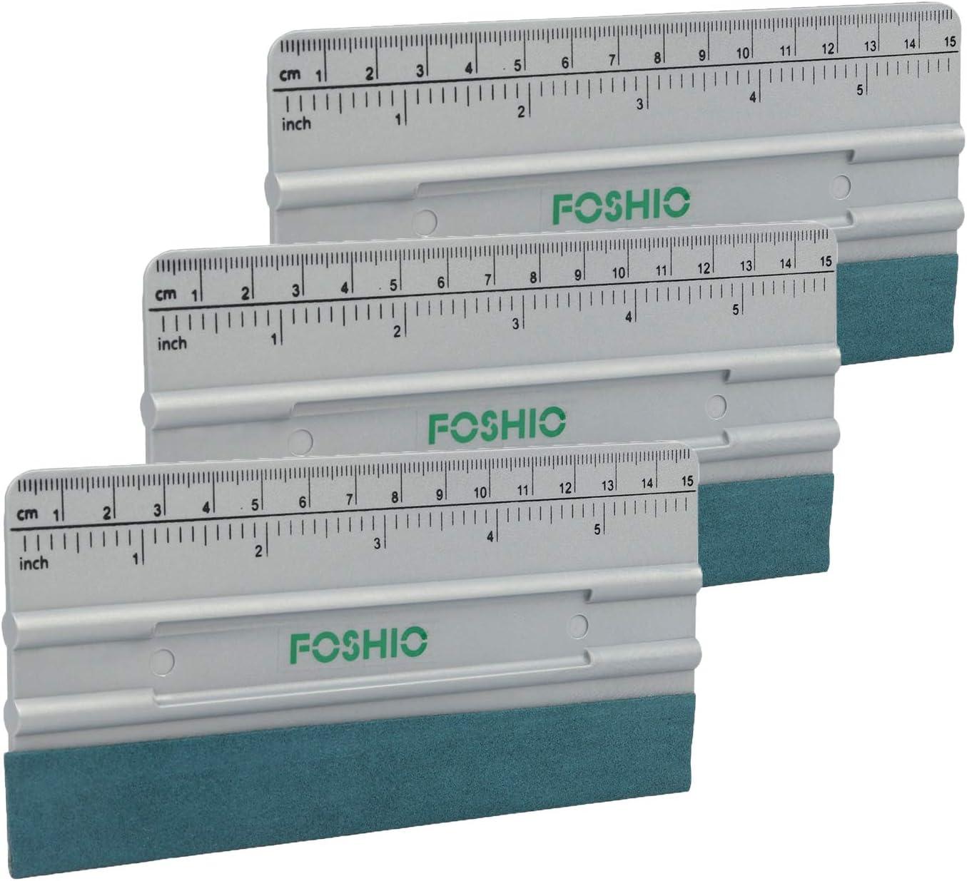 Foshio Car Vinyl Wrapping 6 Zoll Filzpresse Mit Längenmessung Zoll Und Cm 3er Pack Auto