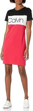 Calvin Klein Women's Short Sleeve Logo T-Shirt Dress