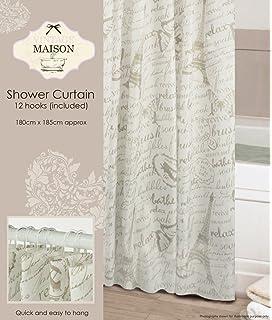 Vintage Maison Paris Inspired Shower Curtain