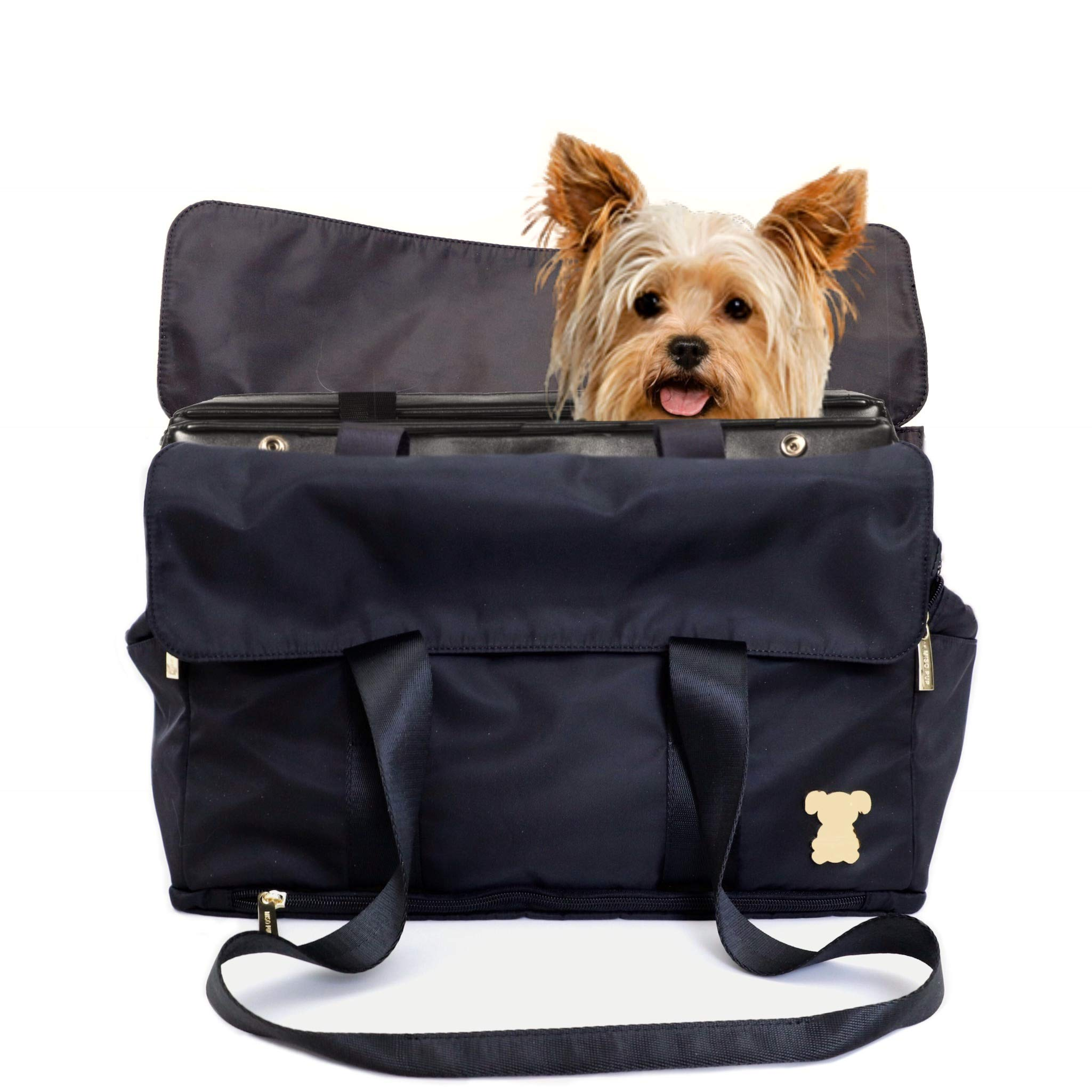 MISO PUP Shell Tote for use Interchangeable Base Pet Carrier (Shell Tote) (Shell Tote ONLY for USE with Base PET Carrier, Flap Tote Black) by MISO PUP