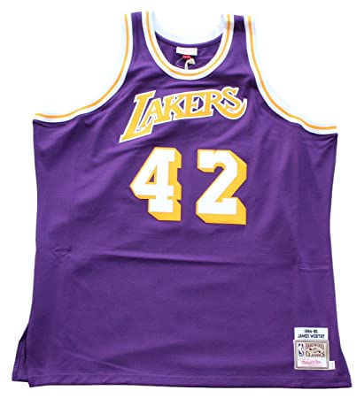 f48454ee7f8 ... norway mitchell ness james worthy los angeles lakers authentic 1984 85  nba jersey 3xl fd60e 3d097