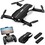 Drones with 1080P HD Camera for Adults, JJRC Foldable Drone with 2 Batteries, Optical Flow Positioning Quadcopter with Carryi