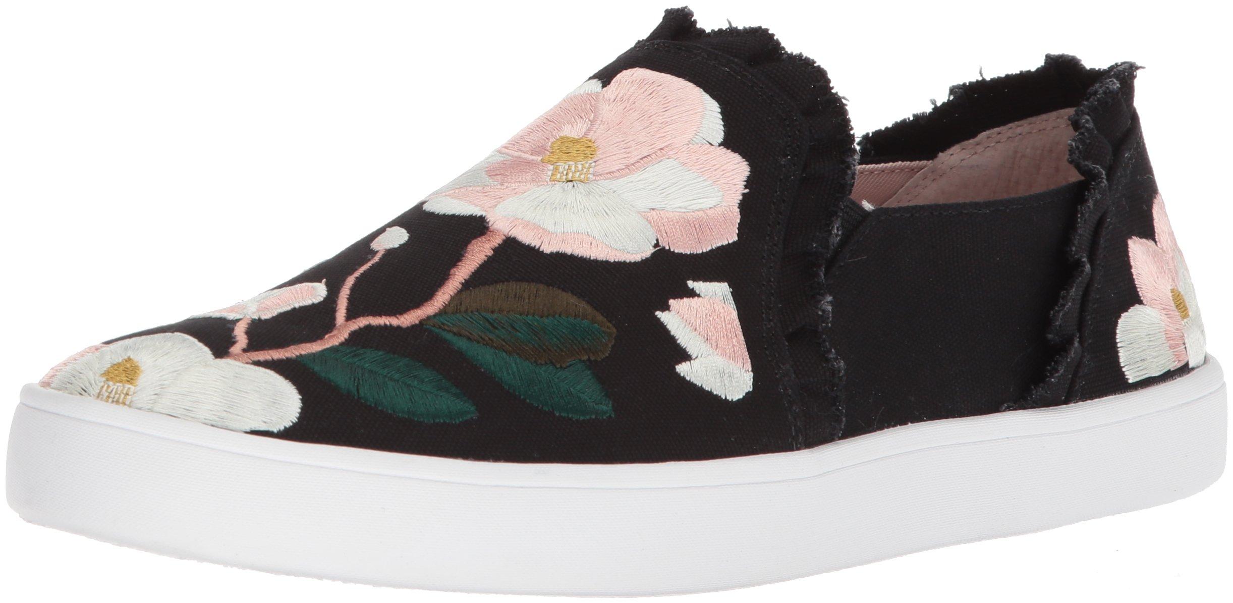 Kate Spade New York Women's Leonie Sneaker, Black Linen, 7.5 Medium US by Kate Spade New York