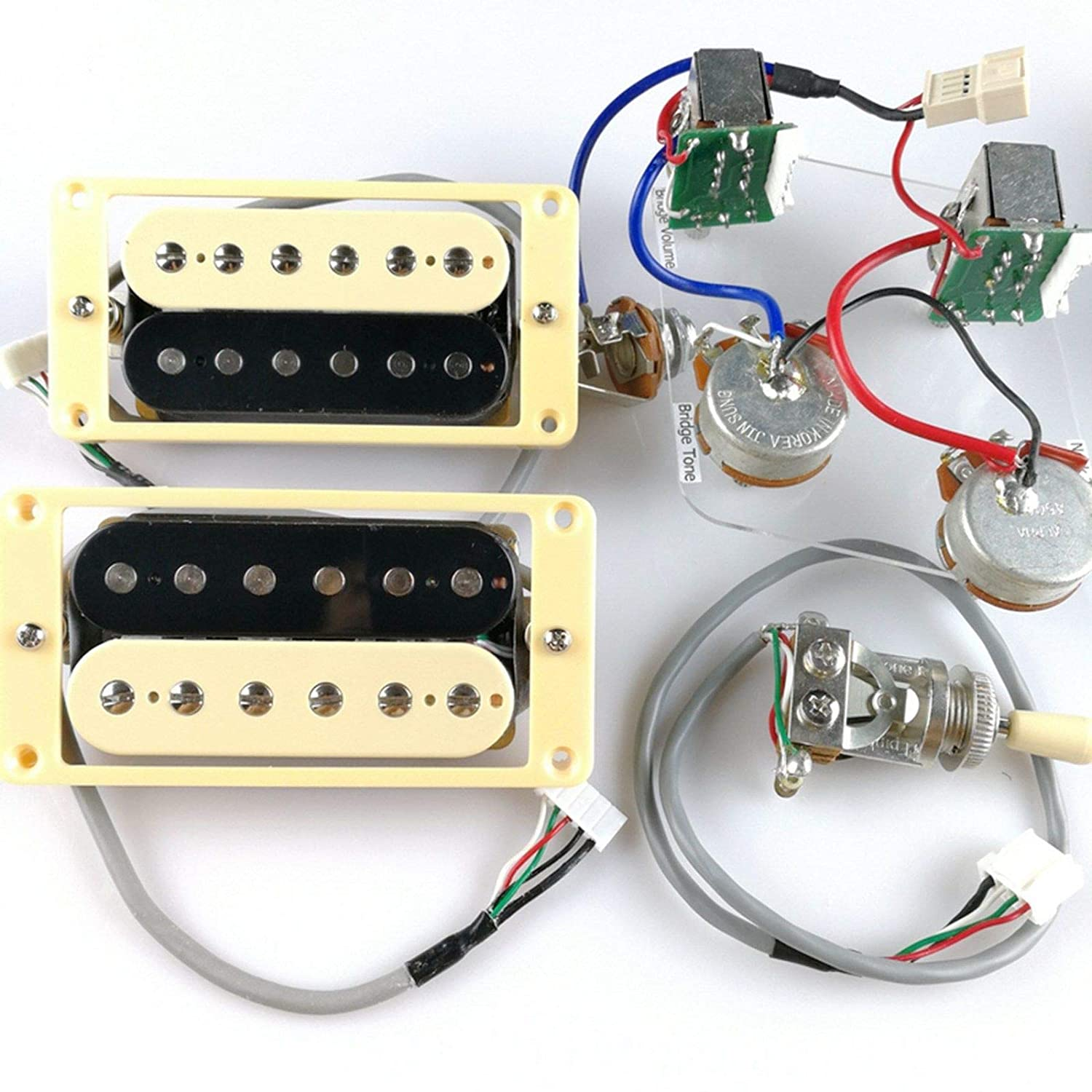 Epiphone Pro Wiring Harness Library 335 Pots Switch Kit For Gibson Guitar Complete With Diagram Amazoncom 1 Set Probucker Alnico Bridgeneck Pickups Pots3 Way