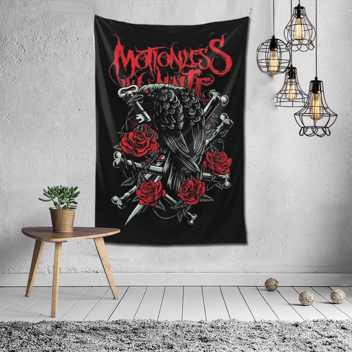 Motionless in White Tapestry Wall Hanging Bedding Tapestry 3D Printed Art Tapestry Home Decor 60