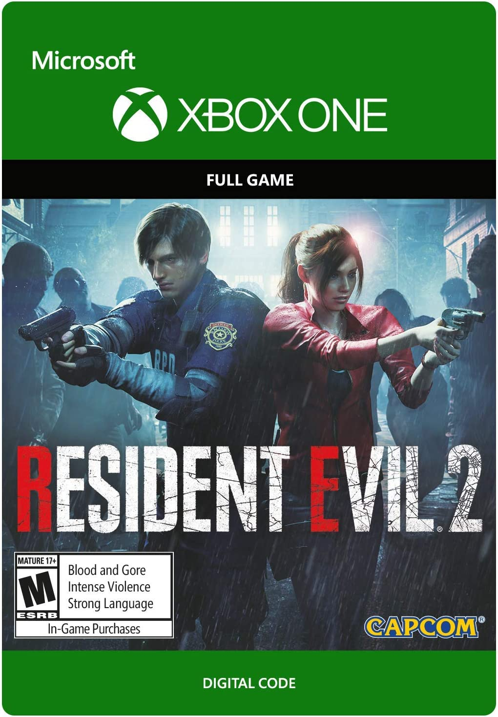 Amazon com: Resident Evil 2 - Xbox One [Digital Code]: Video Games