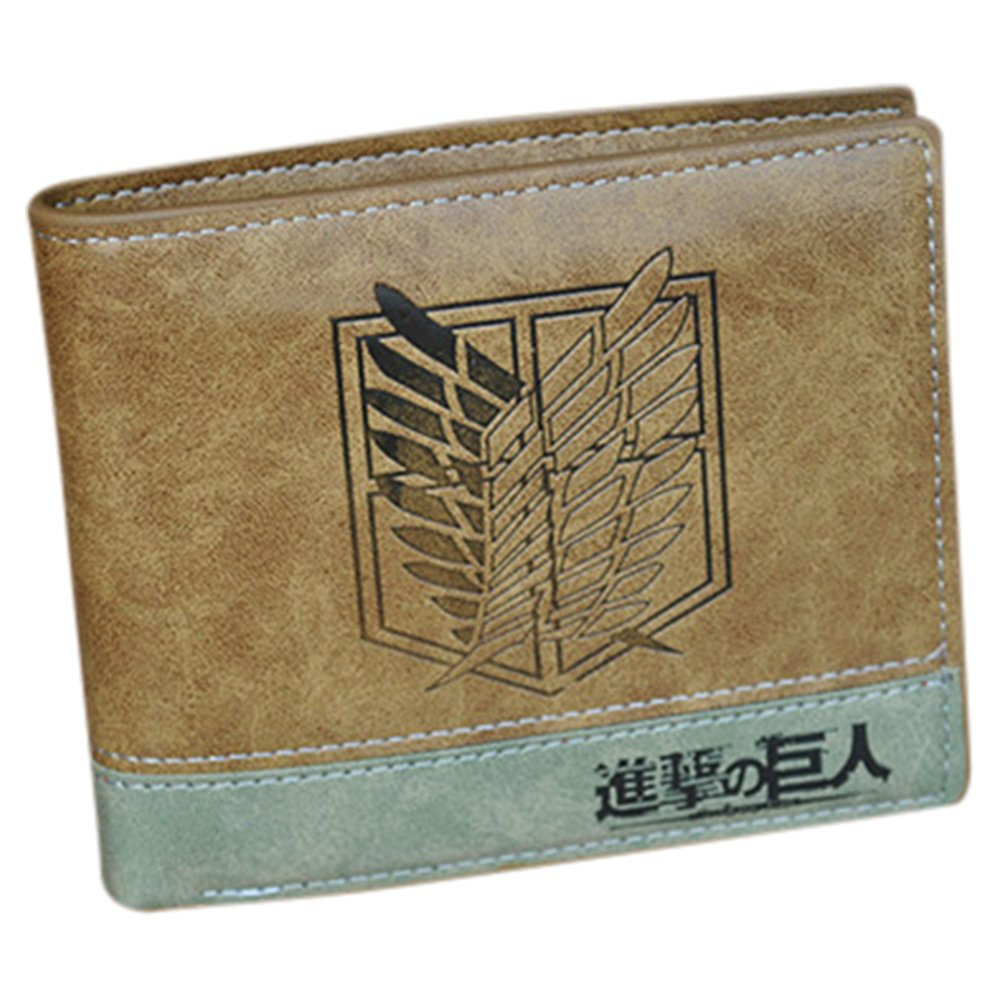 Anime Wallet Purse One Piece Fairy Tail Attack On Titan Death Note Gift for Fan Collection (Attack on Titan)