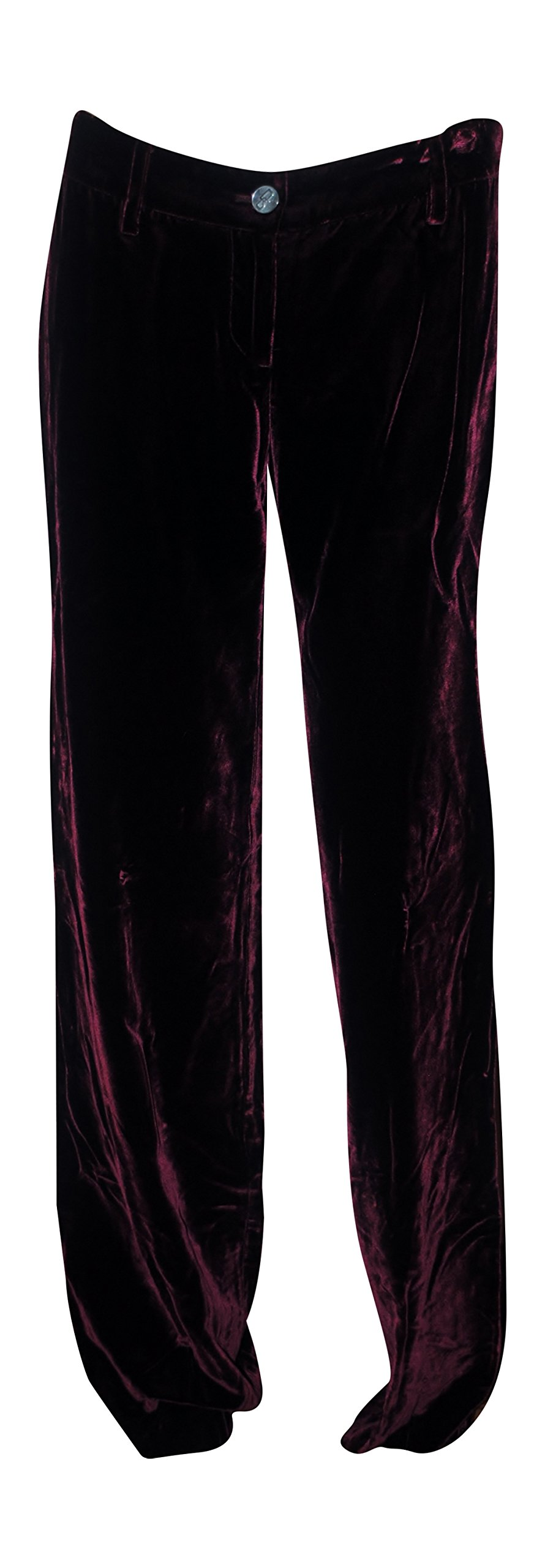 Dolce & Gabbana Women's Velvet Pants Cranberry Red (38 IT) Size 4