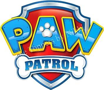 3 Inch Paw Patrol Logo BLUE Precut Icing CakeToppers Easy Peel Attach Fab For Birthday