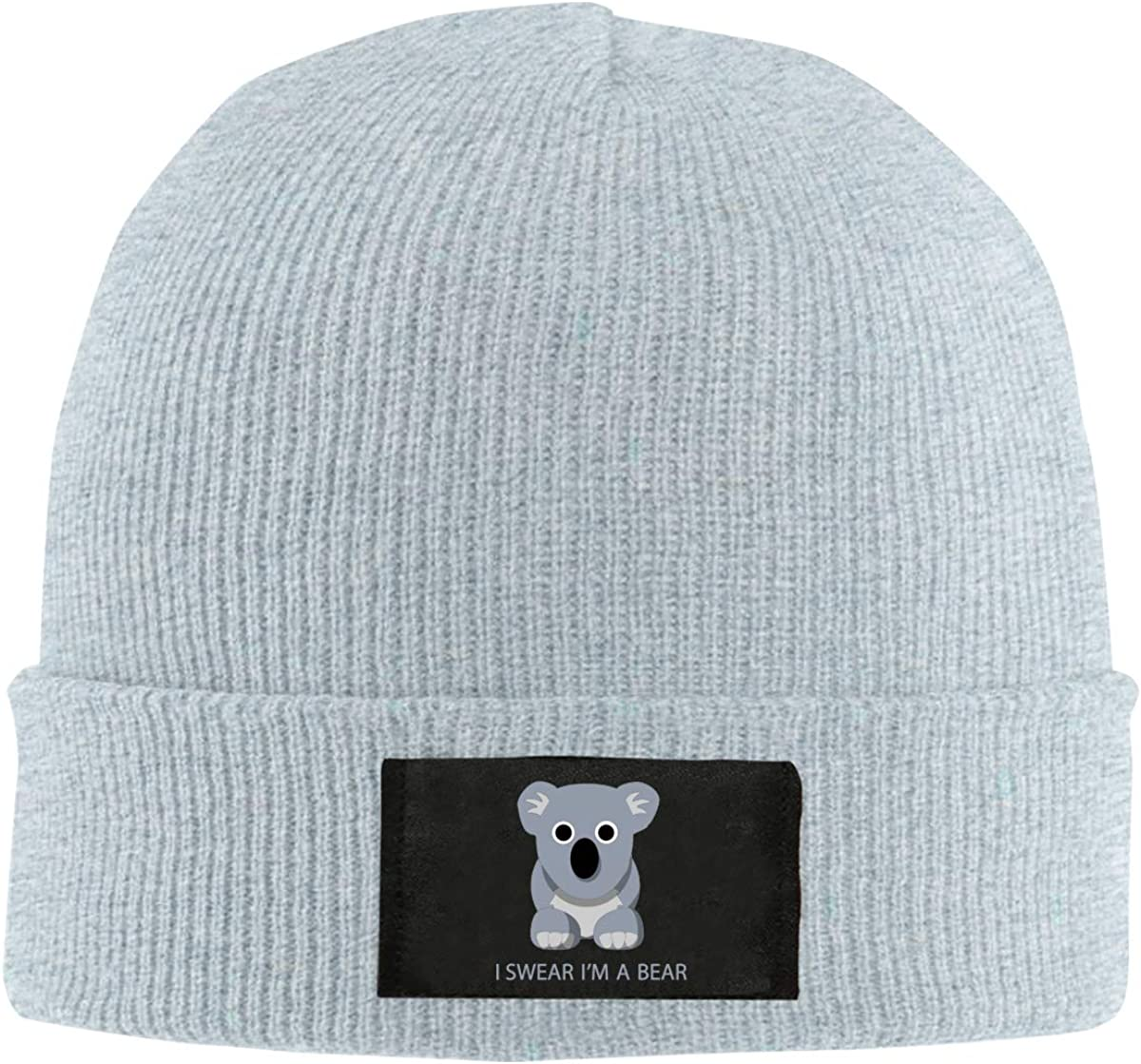 Unisex Stylish Slouch Beanie Hats Black I Swear Im A Bear Top Level Beanie Men Women