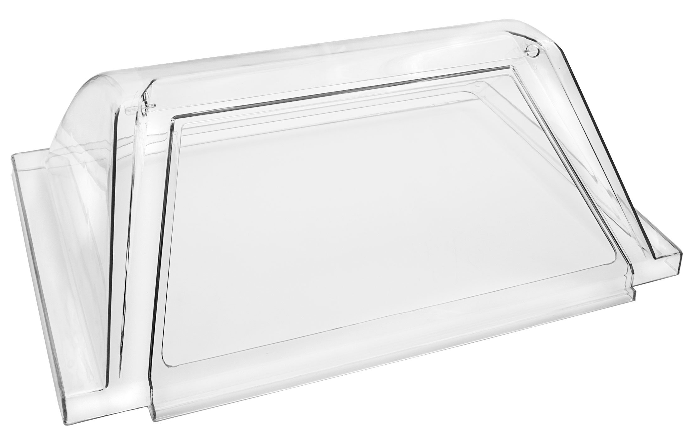 Concession Land - Clear Plexiglass Hot Dog Roller Grill Cover