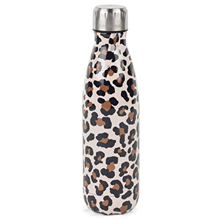Cambridge CM06513 dise/ño de leopardo 500 ml, acero inoxidable Termo de acuarela