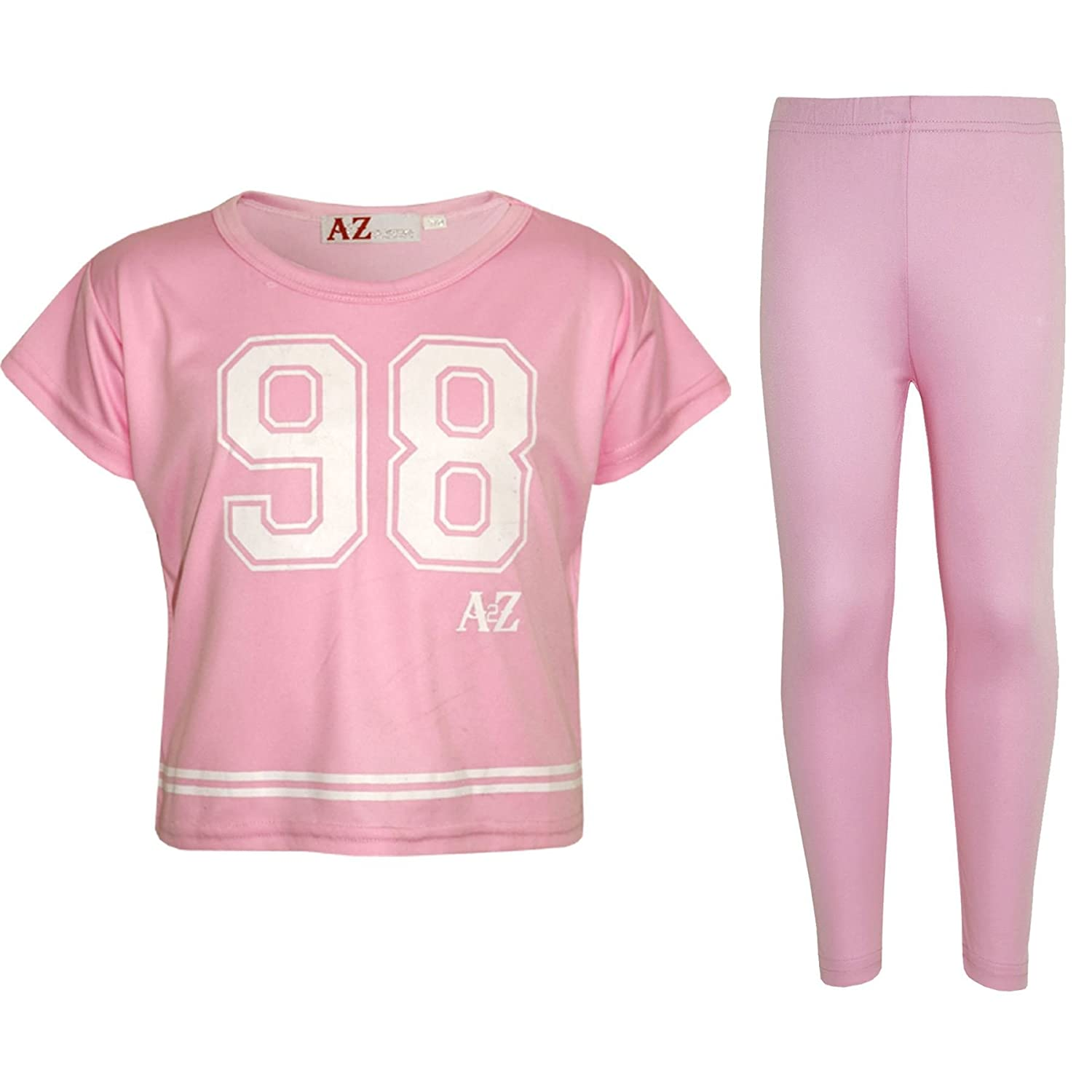 e9001fa38f4 A2Z 4 Kids® Girls Top Kids 98 Print Stylish Crop Top & Fashion Legging Set.  98 Printed On The Front Of The Top. Available Size; 5-6 Years, 7-8 Years,  ...